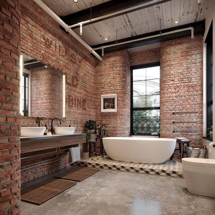 Ванная в стиле лофт для маленькой и большой площади