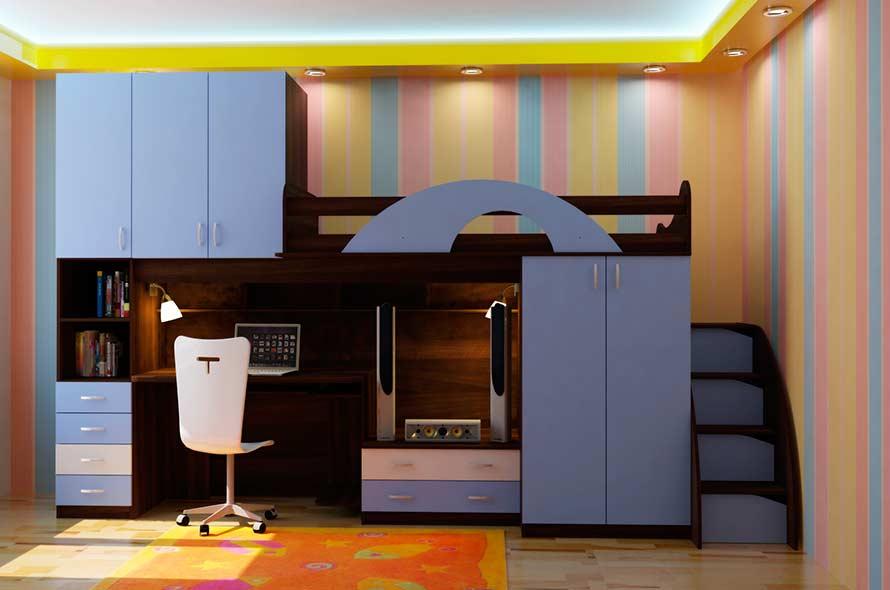 Как обустроить детский уголок в однокомнатной квартире?
