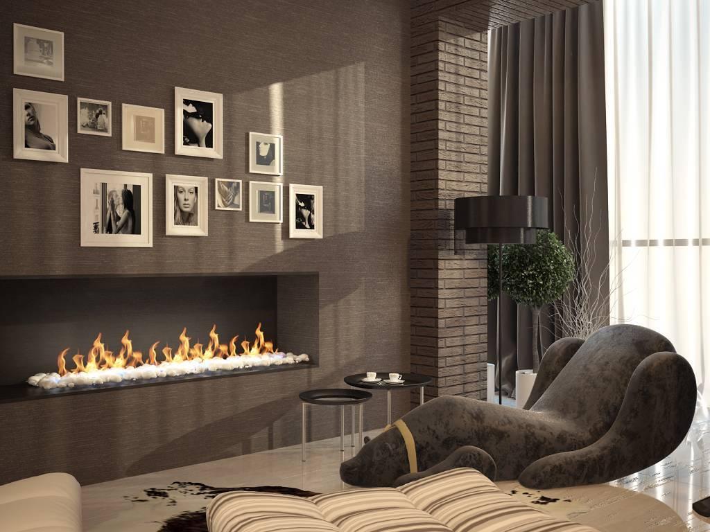 Гостиная с камином и телевизором: виды, варианты расположения на стене, идеи для квартиры и дома