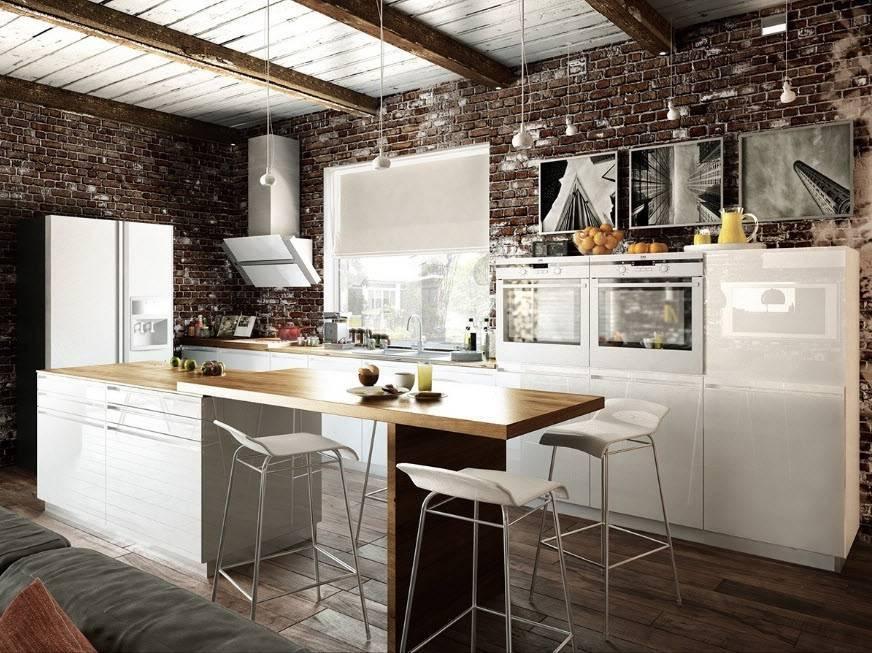 Маленькая кухня в стиле лофт (34 фото): дизайн интерьера небольшой кухни в стиле лофт и советы по ее оформлению