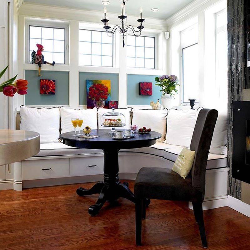Кухонный уголок для маленькой кухни: фото идеи дизайна и советы по выбору