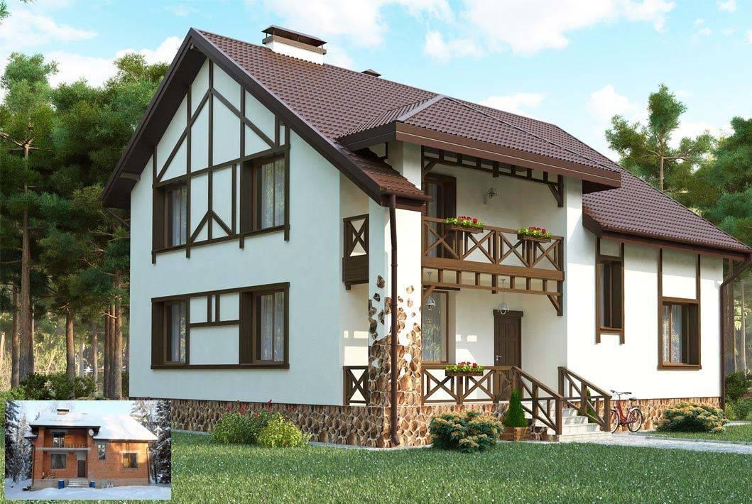 Современная отделка фасада частного дома: варианты с фото