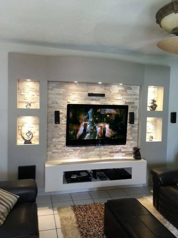 Стена с телевизором – дизайн современной гостиной