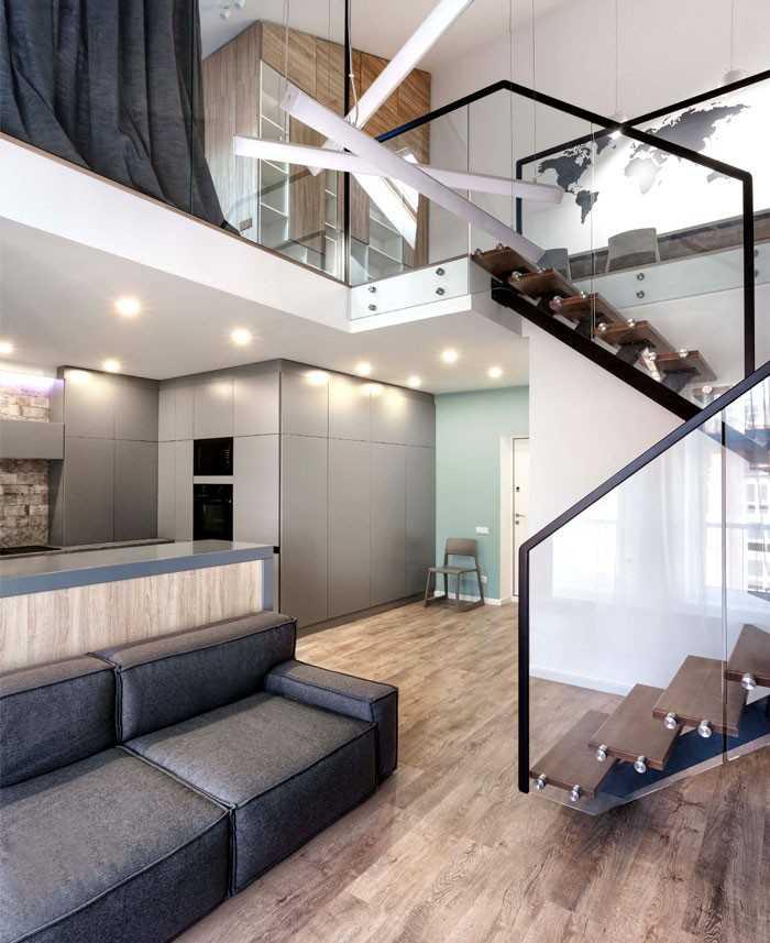 Дизайн двухуровневой квартиры +50 фото идей интерьера
