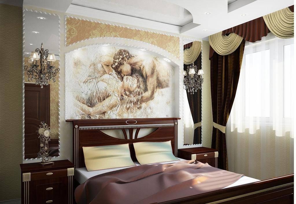 Какие картины или постеры лучше повесить в интерьере спальной комнаты