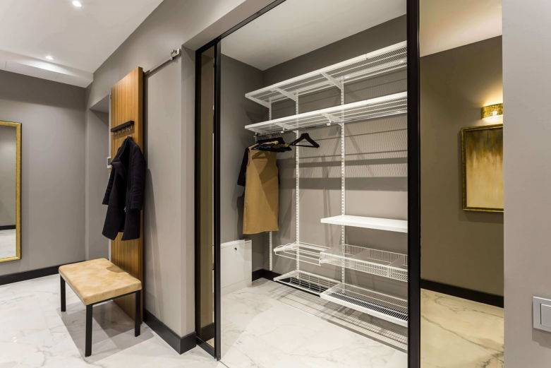 Прихожая с гардеробной - 115 фото лучших решений обустройства и украшения гардеробной