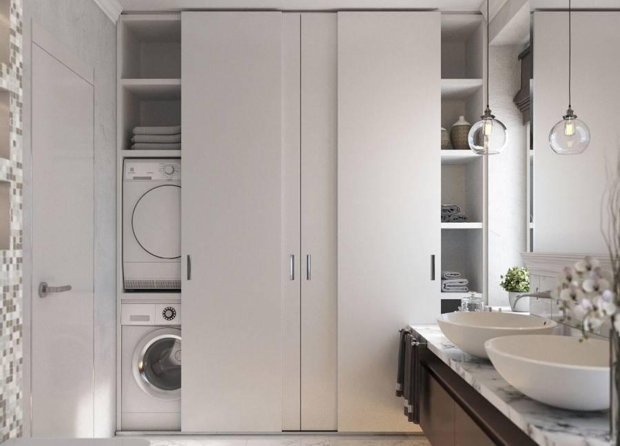 Встроенная мебель для ванной - 125 фото как выбрать правильно оптимальные сочетания для ванной комнаты