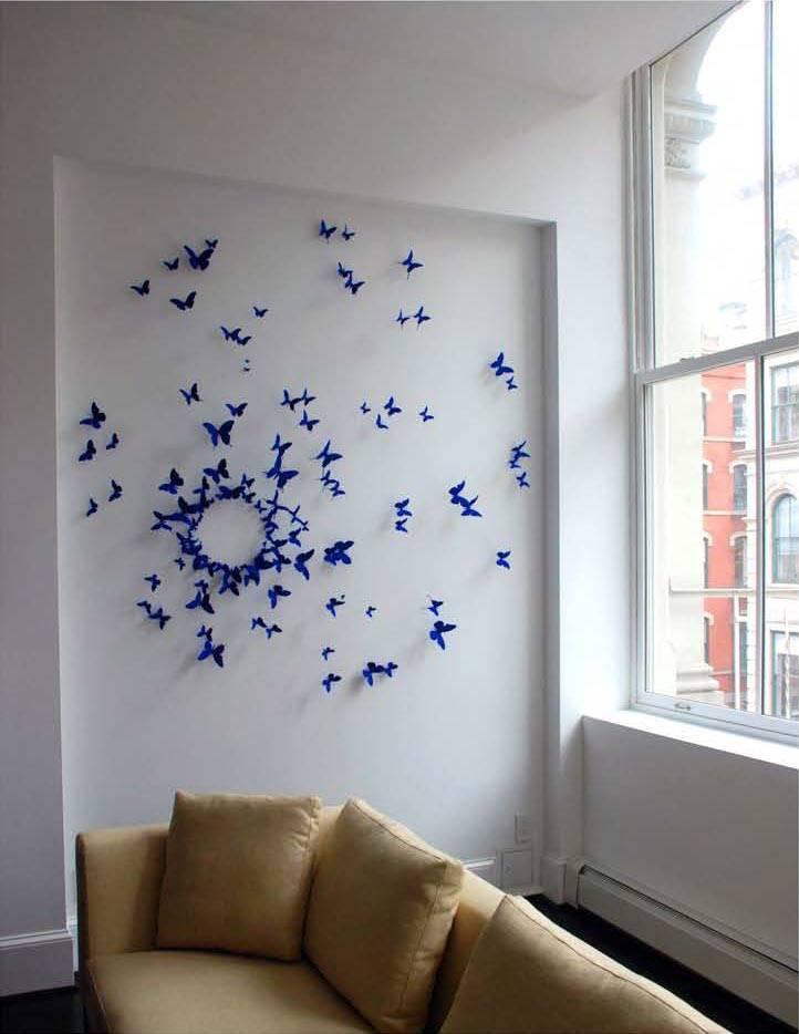 Бабочки на стену своими руками: 5 пошаговых уроков с шаблонами и трафаретами