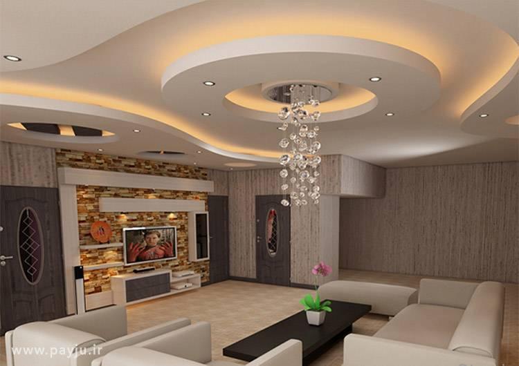 Дизайн потолка в гостиной комнате: 90+ фото, стильные примеры отделки