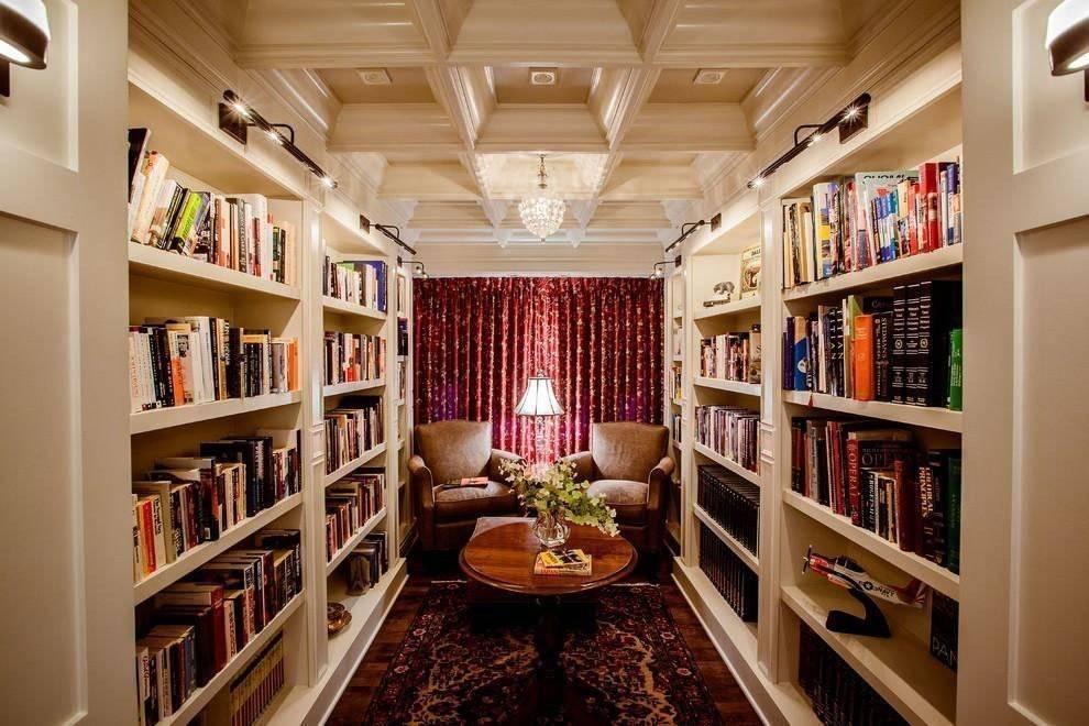 Дизайн библиотеки: как создать домашнюю библиотеку в квартире? (38 фото)   дизайн и интерьер