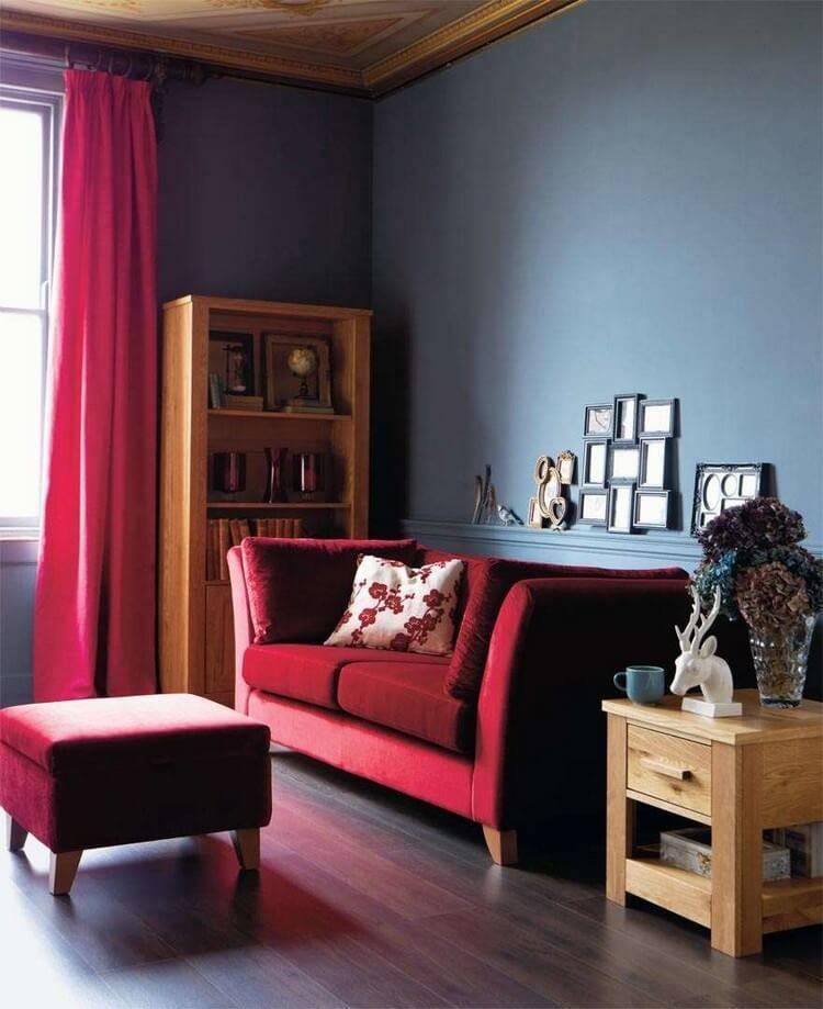 Как сочетать бордовый цвет с другими цветами — варианты сочетания в разных комнатах