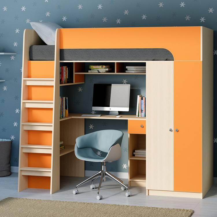 Кровать чердак для детей: 120 фото проектов из современных материалов и дерева