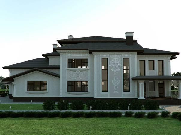Отделка фасада частного дома: фото идеи дизайна и варианты отделочных материалов