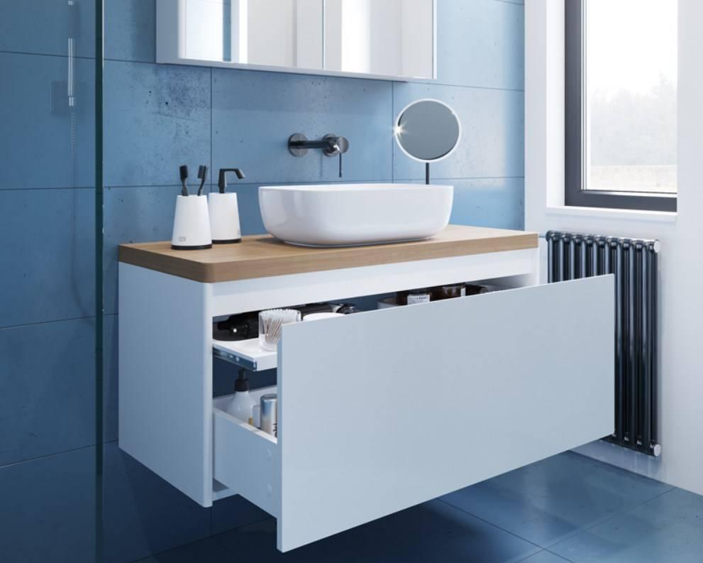 Тумбочка в ванную комнату: 100 стильных вариантов
