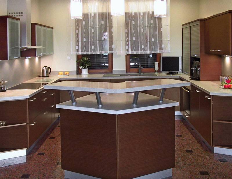 П-образная кухня: дизайн с барной стойкой, окном, островом и другие варианты с фото