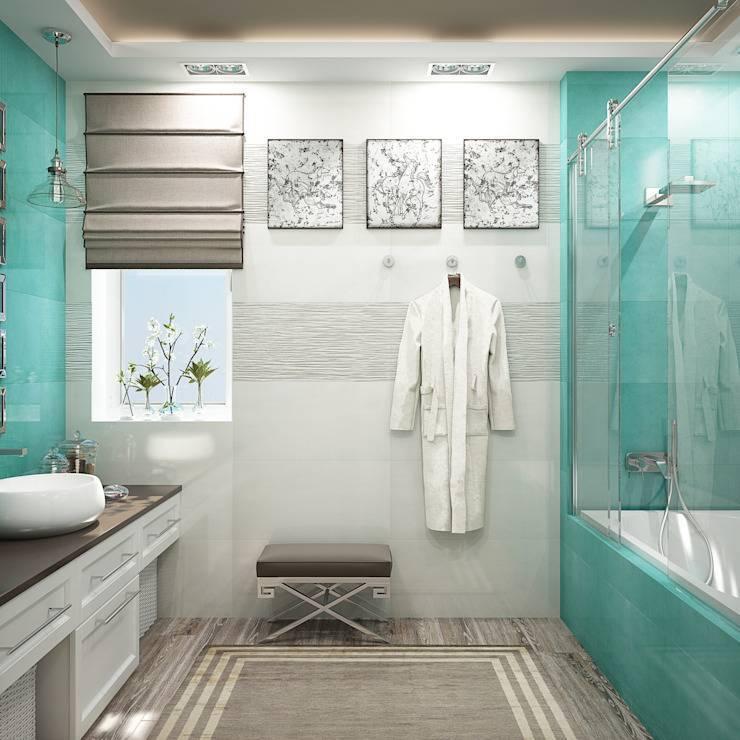 Голубая ванная: идеи и секреты правильного дизайна (55 фото)