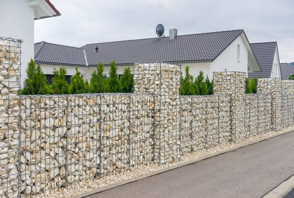 Забор из габионов своими руками: нюансы строительства + фото