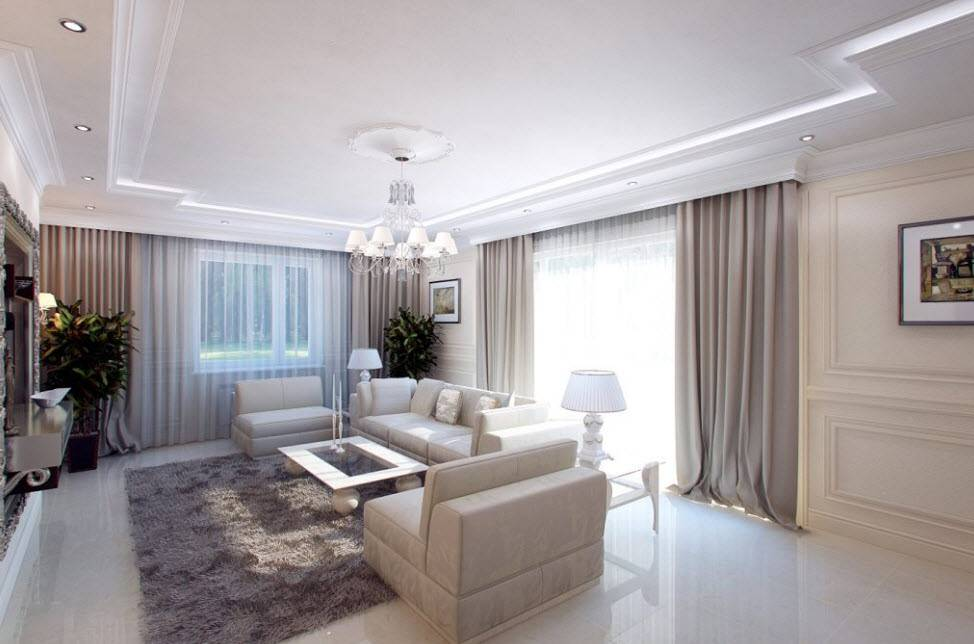 Дизайн гостиной в частном доме: популярные идеи