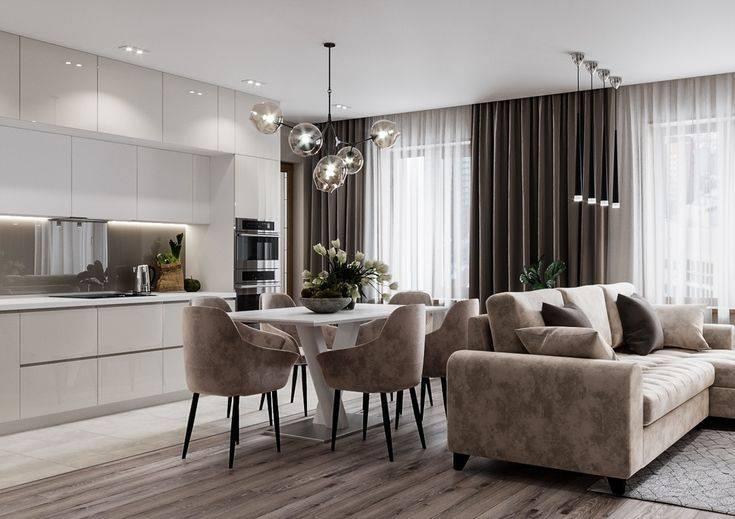 Кухня-гостиная 25 кв. м: 100+ фото [лучшие интерьеры 2019]