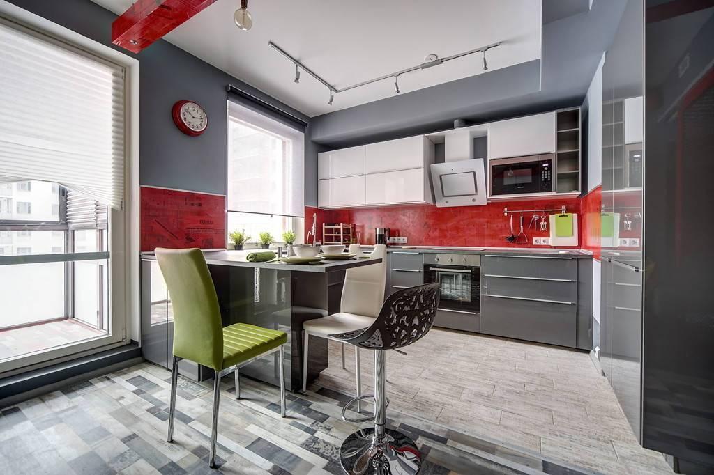 Красно-черная кухня: 50+ реальных фото примеров