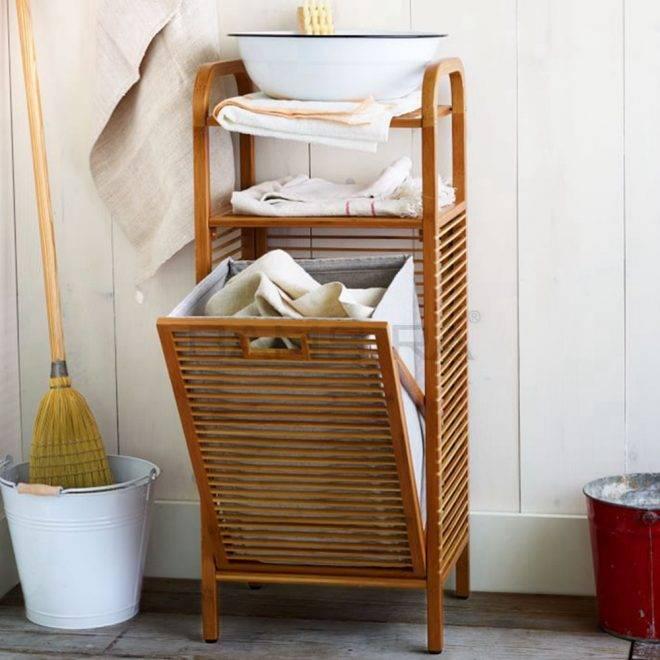 Корзина для белья в ванную: (55 фото) практичные идеи от дизайнеров