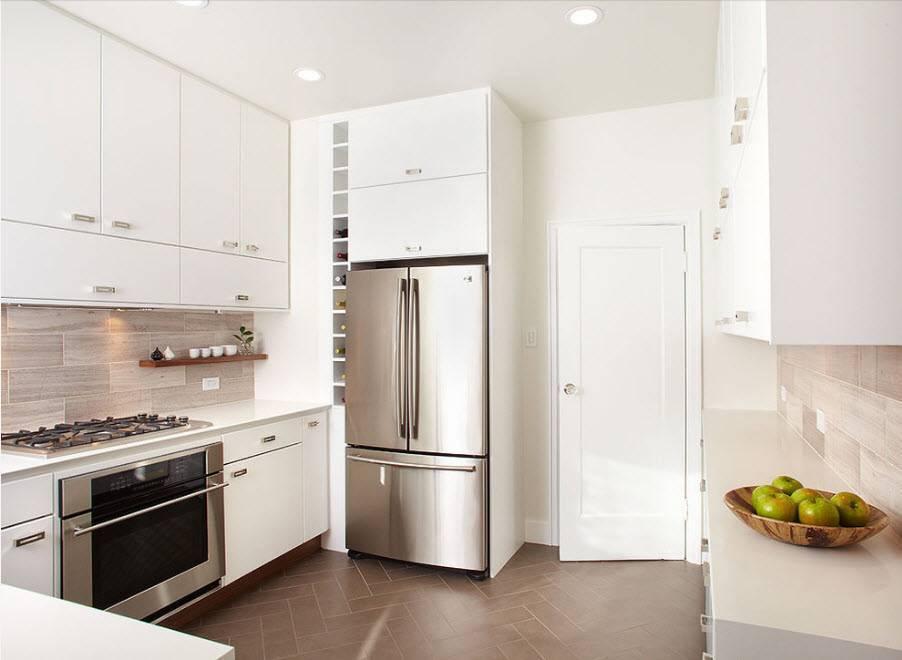 Холодильник в интерьере кухни: советы по выбору - 75 фото