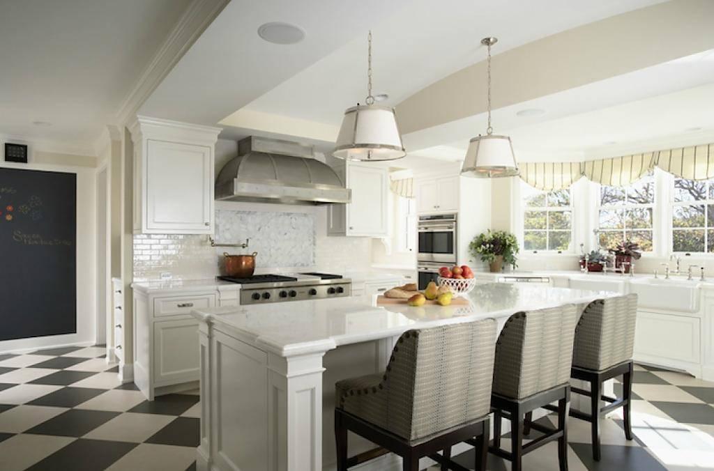 Дизайн кухни белого цвета (90+ реальных фото)