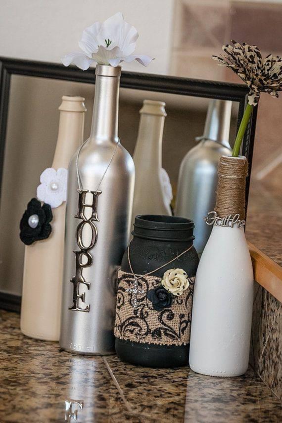Декор бутылок: 95 фото красивых и оригинальных вариантов оформления бутылок своими руками