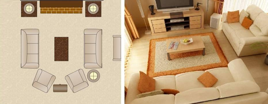 Идеи, как расставить мебель в зале: 5 зон