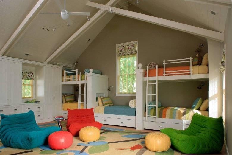 Детская на мансардном этаже для девочки и мальчика подростка дизайн и фото