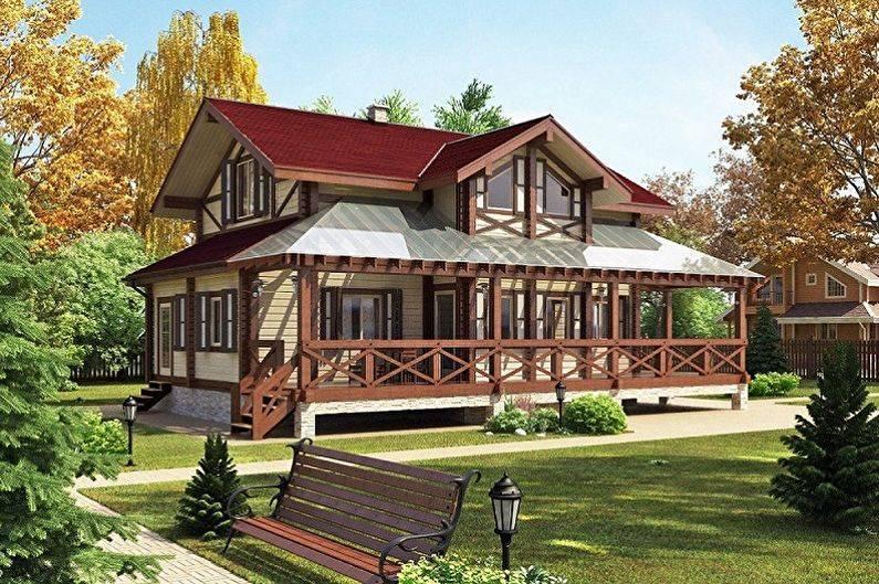 Двухэтажный дом - 105 фото и чертежей лучших идей дизайна