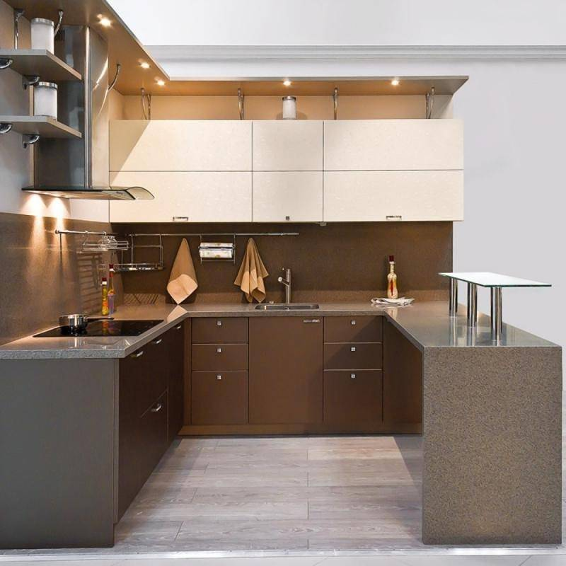 Угловые кухни:175 + (фото) дизайна кухонных гарнитуров