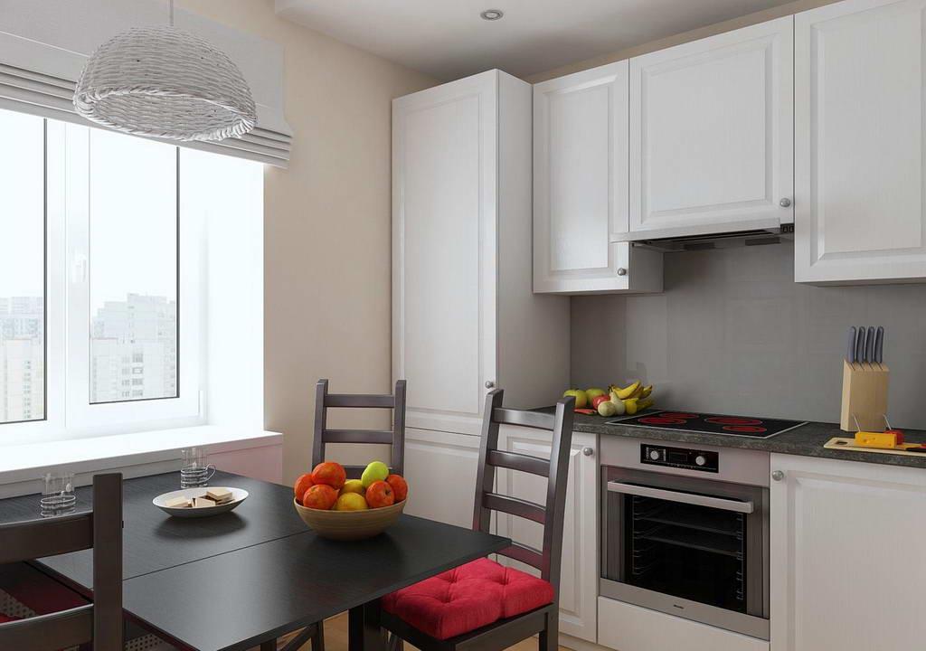 Создаем дизайн маленькой кухни 6 кв. м: 50 фото