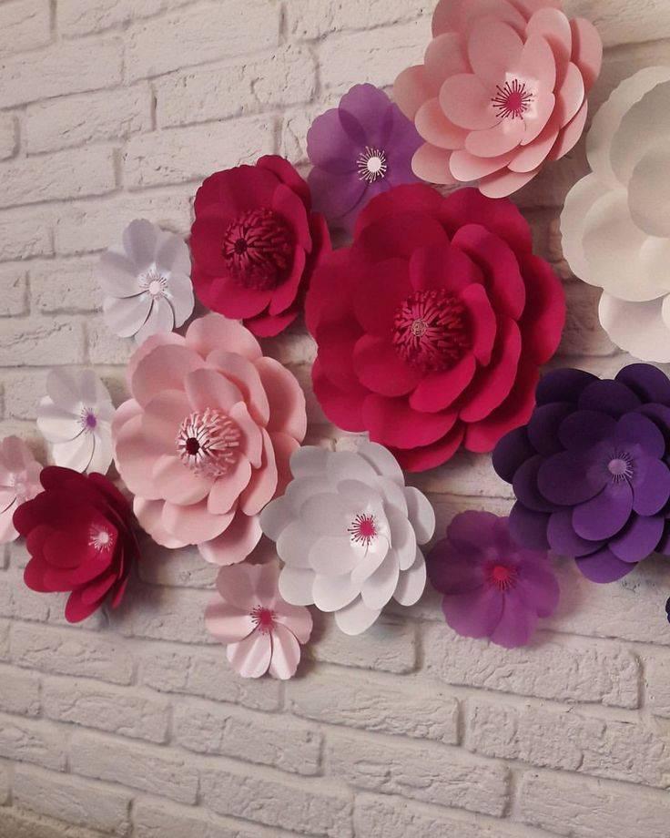 Большие цветы из гофрированной бумаги: пошаговая инструкция для начинающих