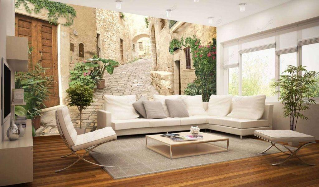 Дизайн обоев для зала: варианты, выбор, поклейка, примеры