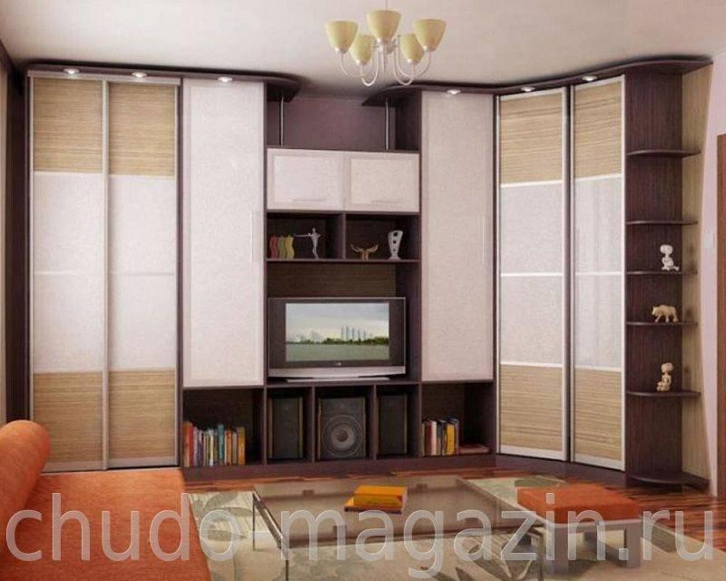 Угловой шкаф в гостиную - модели | как выбрать?