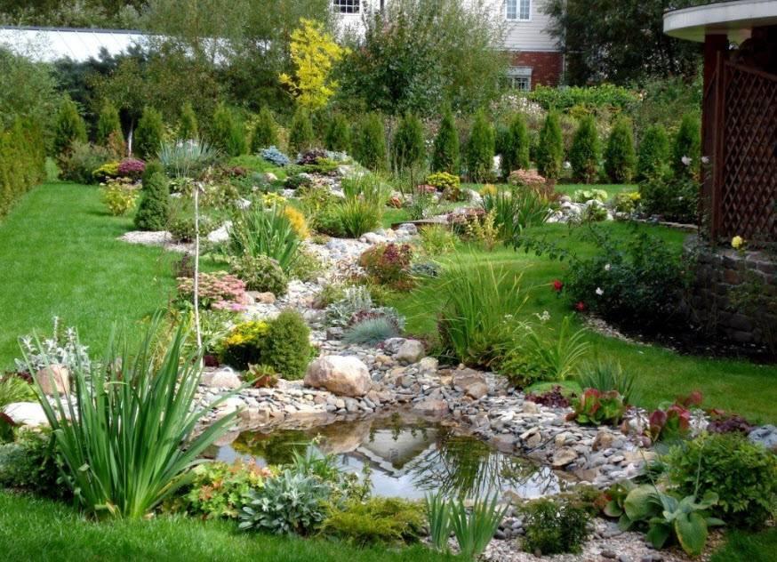 Сухой ручей в саду своими руками, пошаговая инструкция, фото