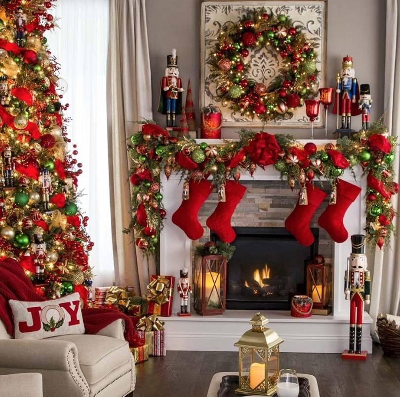 Украшение гостинной на новый год своими руками: 100 лучших фото-идейдекор и дизайн интерьера