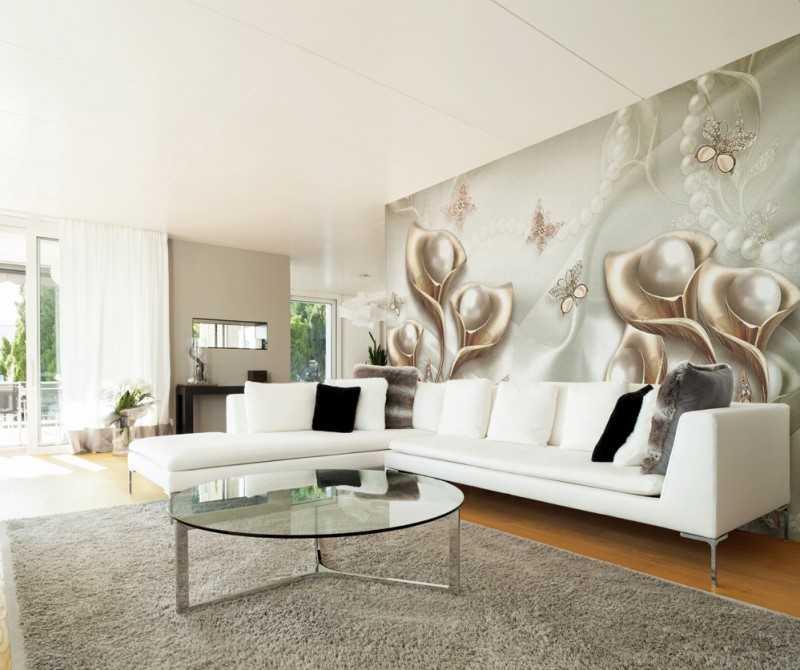 Фотообои в гостиную (51 фото): дизайн стен в интерьере квартиры, обои для зала, расширяющие пространство
