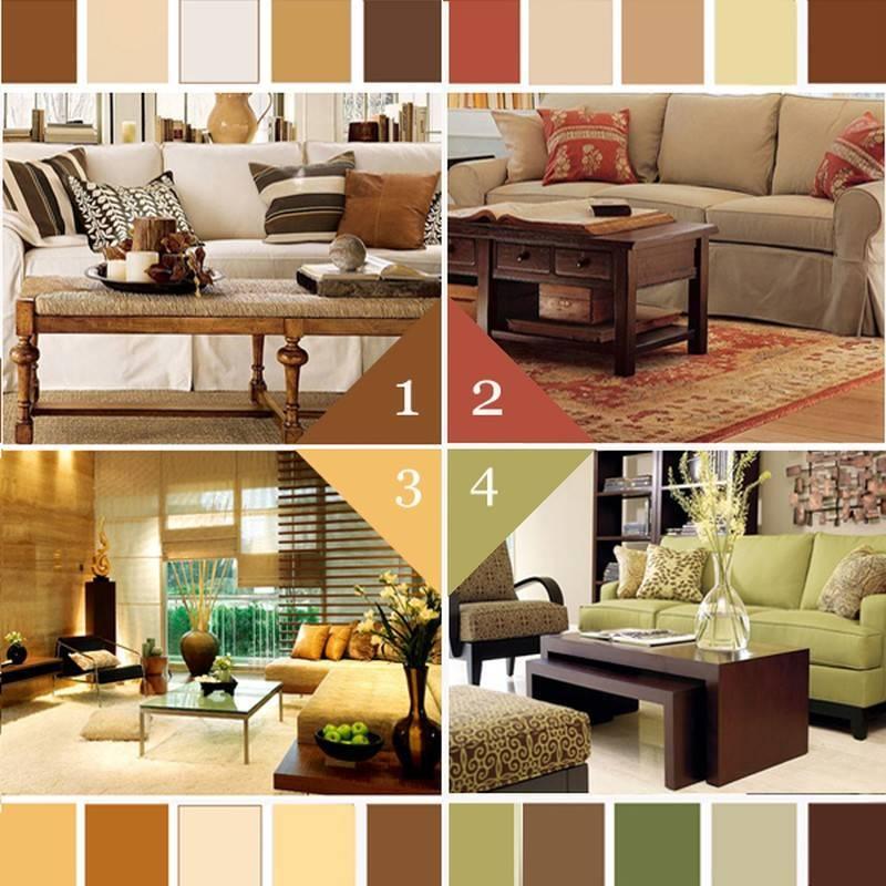 Коричневый цвет в интерьере: 100 фото идей дизайна и сочетаний