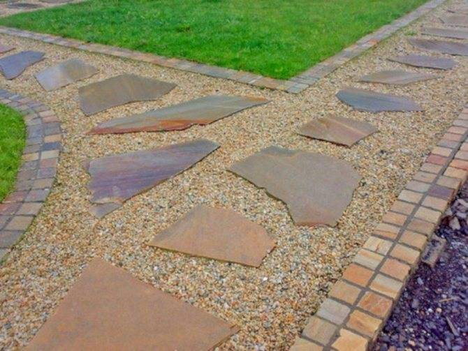 Садовые дорожки из плитняка:технология укладки своими руками,выбор плитняка