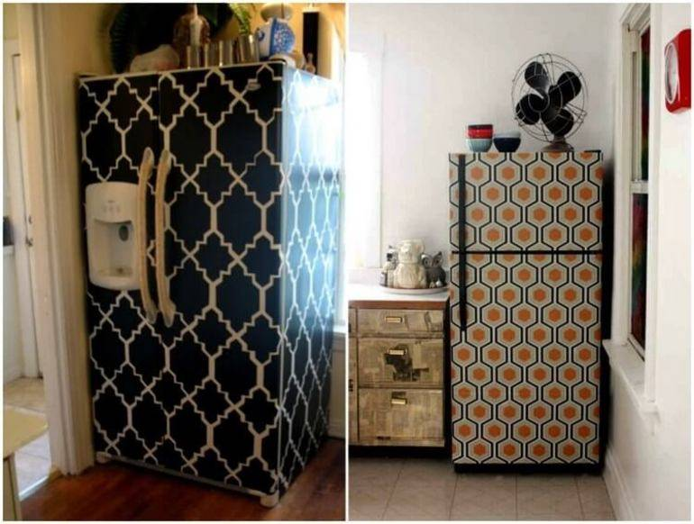 Самоклеющаяся пленка для мебели - как клеить - снять - фото