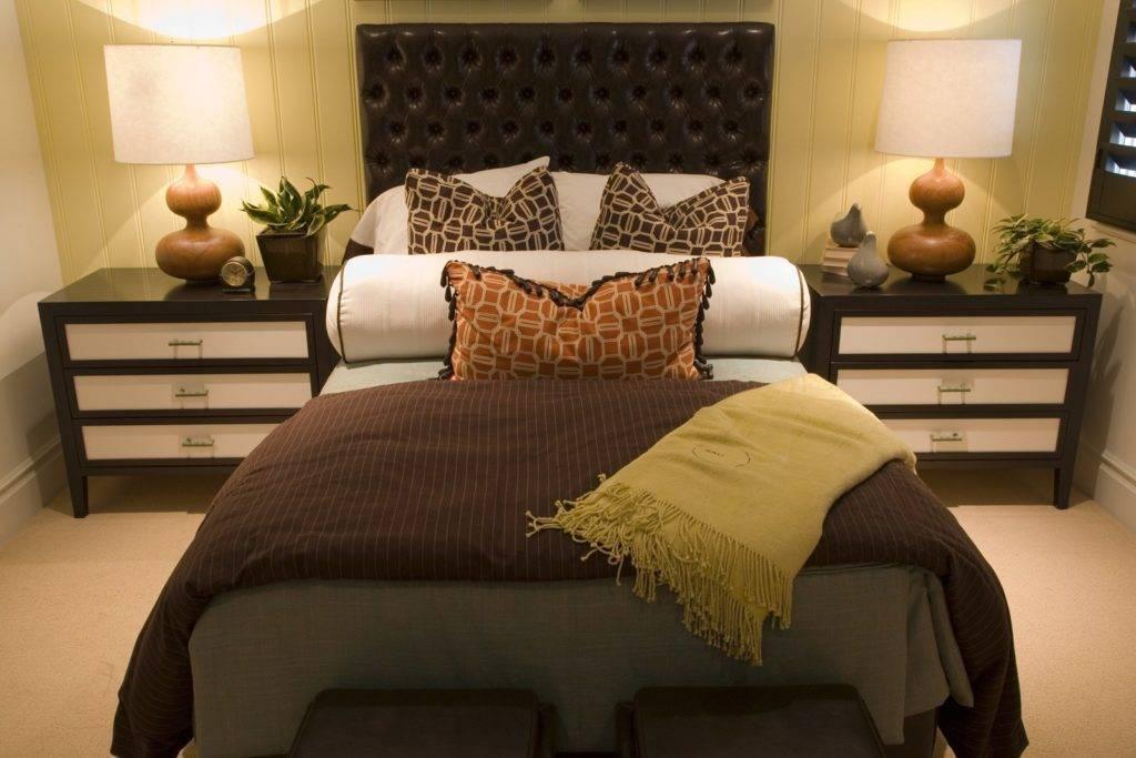 Спальня в коричневом цвете - оформление, сочетания цвета