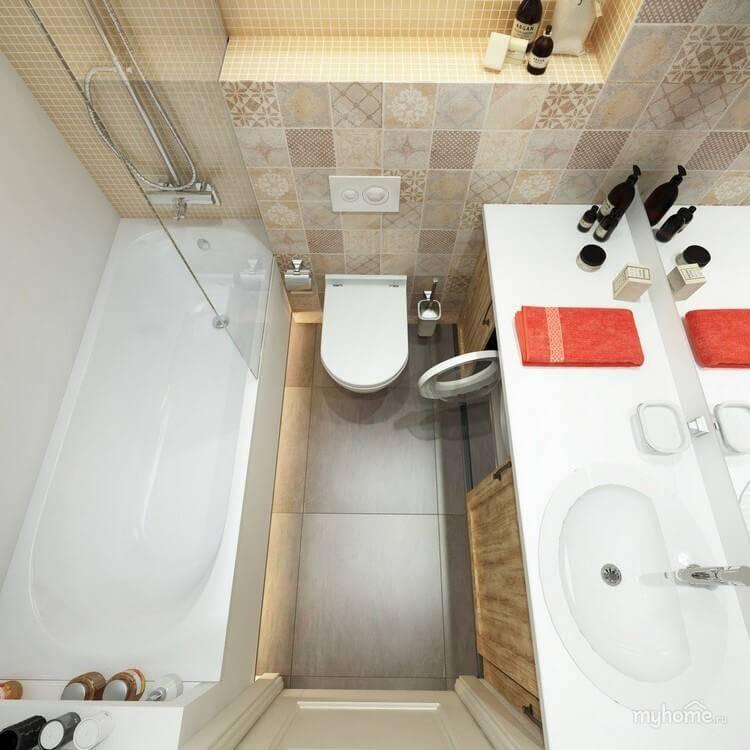 Дизайн ванной комнаты 5 кв. м.: грамотное создание оформления и лучшие идеи планировки маленькой комнаты (70 фото + видео)
