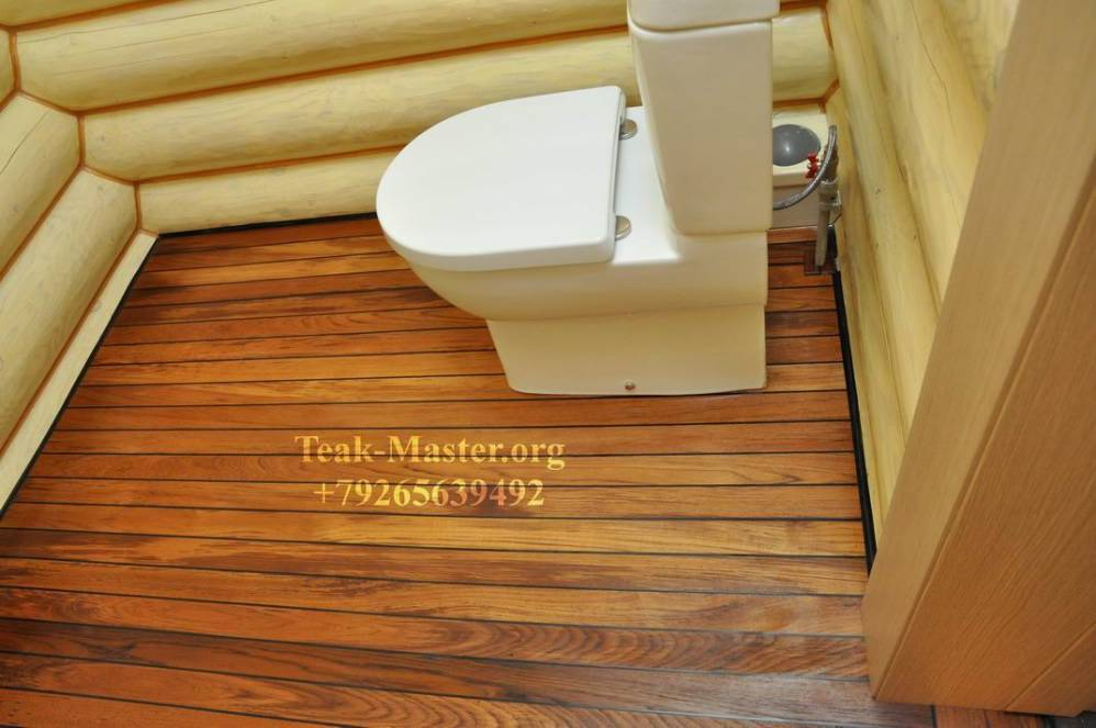 Влагостойкие полы в ванной деревянного дома