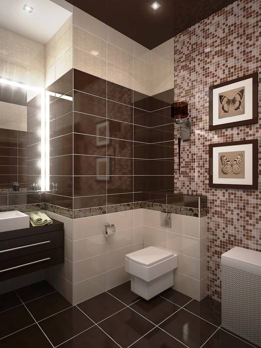 Коричневая плитка: виды керамической декоративной плитки, темные и светлые варианты в интерьере