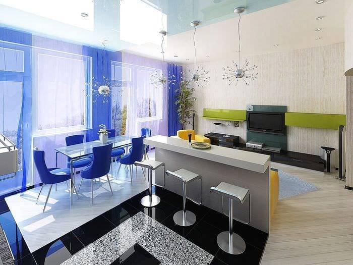 Дизайн кухни-гостиной 15 квадратов: стили и варианты