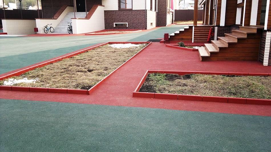 Рулонные резиновые покрытия и плитка для садовых дорожек | housedb.ru