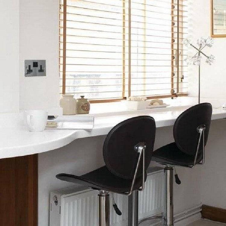 Подоконник-столешница (39 фото): переходящая конструкция вместо стола в ванной комнате, как сделать письменный вариант