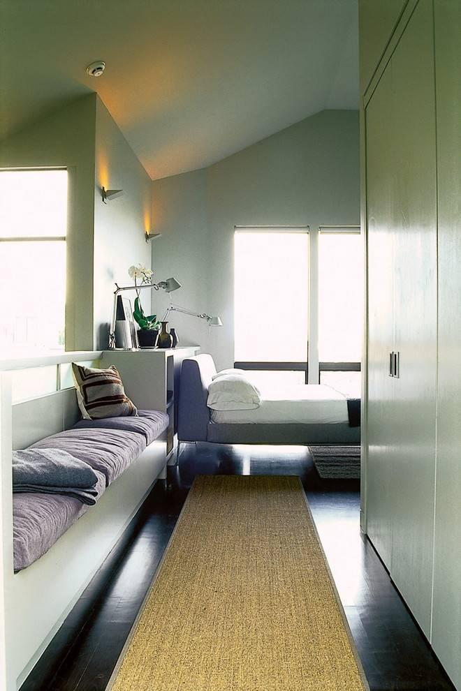 Длинная спальня: 100 фото, особенности дизайна интерьера